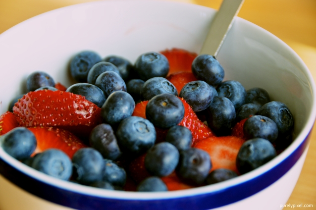 Strawberries, Blueberries, and Plain Yogurt