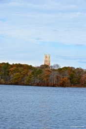 Galen Tower across Lake Waban